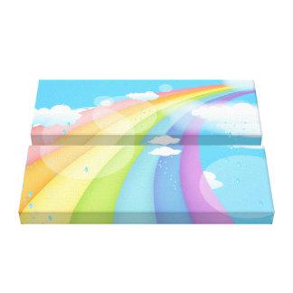 Rainbow Shower Canvas Print