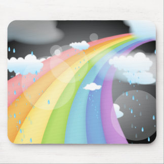 Rainbow Shower Mouse Pad