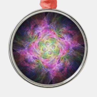 Rainbow Shuriken Metal Ornament