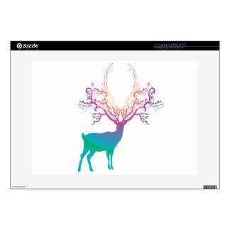 "Rainbow Silhouette Deer Skin For 15"" Laptop"