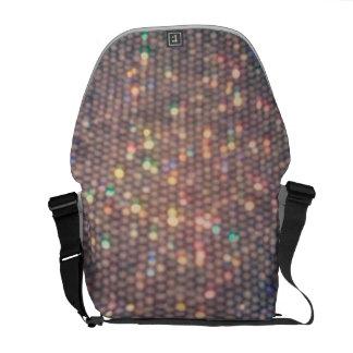 Rainbow Silver Sequin Messenger Bag
