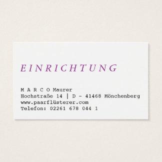 Rainbow simple business card