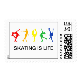 RAINBOW SKATERS POSTAGE STAMPS
