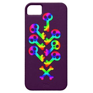 Rainbow Skeleton Key Calliope iphone 5 case