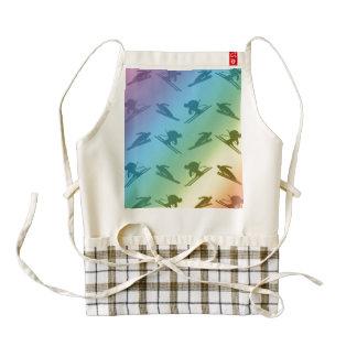 Rainbow ski pattern zazzle HEART apron