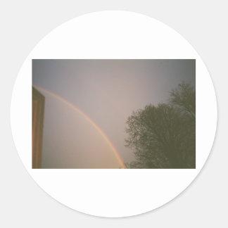 Rainbow Skies Classic Round Sticker