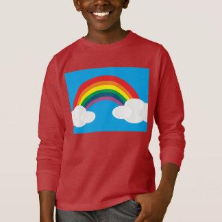 rainbow skies lights shine smile happy joy peace T-Shirt
