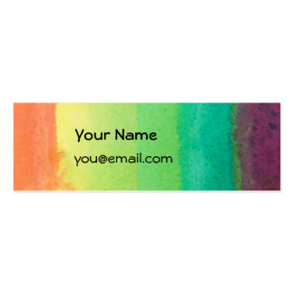 Rainbow Skinny Card Mini Business Card