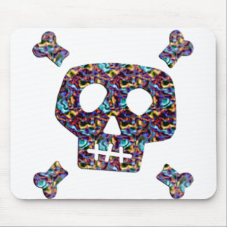 Rainbow Skull and Bones Mouse Pad
