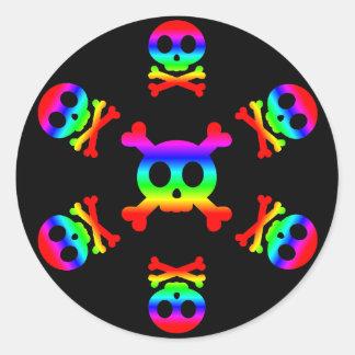 Rainbow Skull and Crossbones sticker
