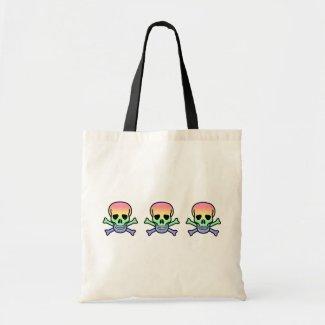 Rainbow Skull bag