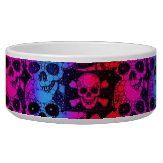 Rainbow Skull Bling Bowl