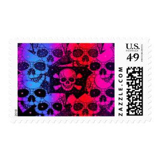 Rainbow Skull Bling Stamps