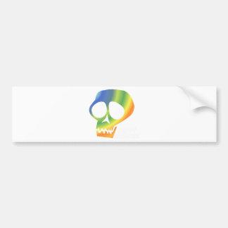 Rainbow Skull! Bumper Sticker