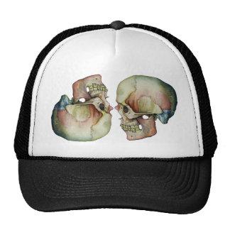 Rainbow Skull-Cap Trucker Hat