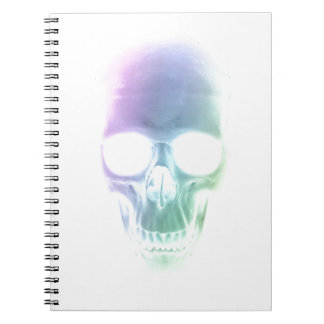 Rainbow Skull - Custom Background Notebook