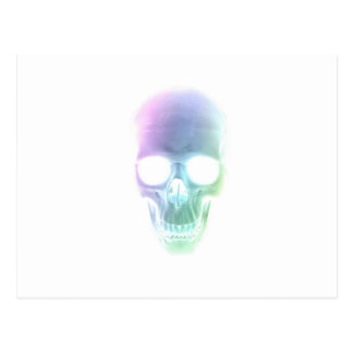 Rainbow Skull - Custom Background Postcard