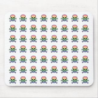 Rainbow Skull Mouse Pad