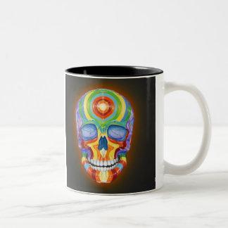 Rainbow Skull Mug