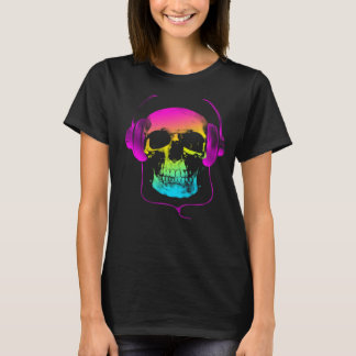 Rainbow Skull Music T-Shirt