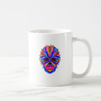 Rainbow Skull Ribbon Coffee Mug