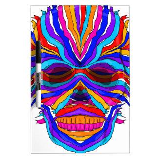 Rainbow Skull Ribbon Dry-Erase Board