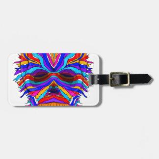 Rainbow Skull Ribbon Luggage Tag