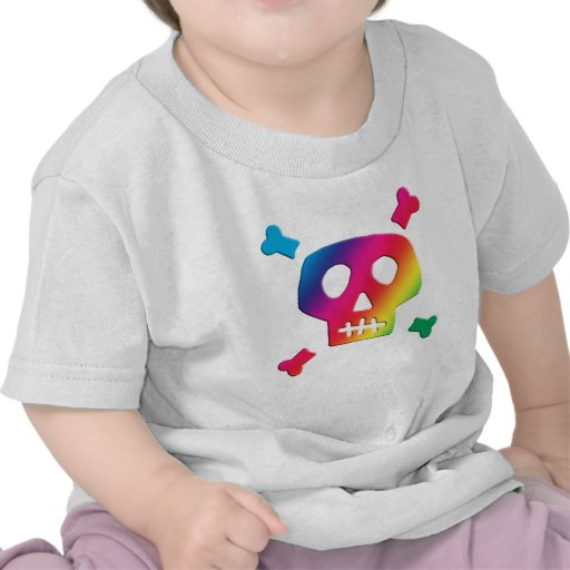 Rainbow Skull T Shirt