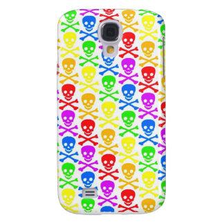 """Rainbow Skulls""  Samsung Galaxy S4 Case"