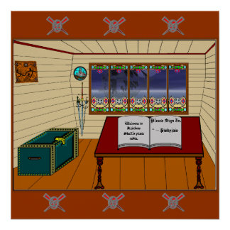 Rainbow Skull's Pirate Cabin. Posters