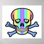 Rainbow Skulls Print