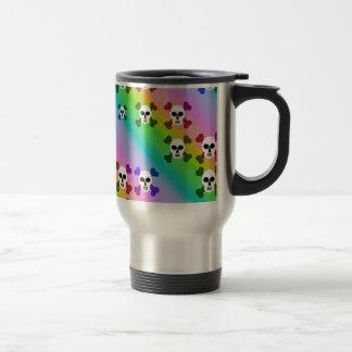 Rainbow Skulls Travel Mug