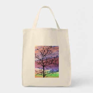 Rainbow Sky Barren Tree Bag