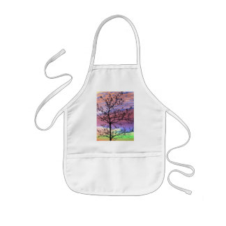 Rainbow Sky Barren Tree Kids' Apron