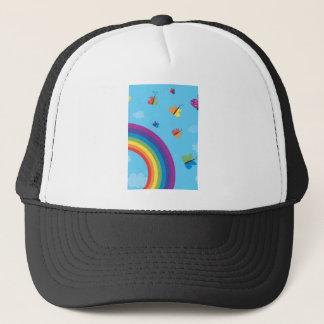 Rainbow Sky Butterflies Trucker Hat