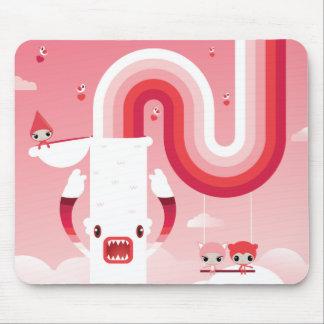 Rainbow sky mouse pad