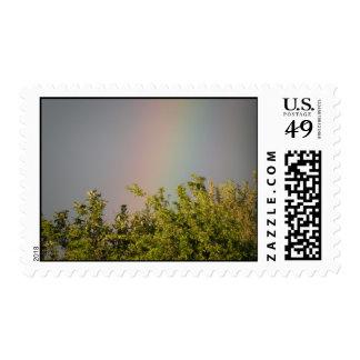 Rainbow Sky Postage Stamp