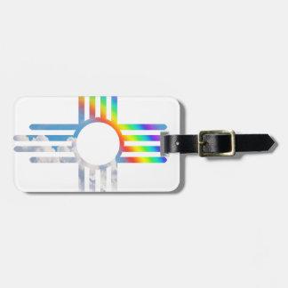 Rainbow sky Zia sun symbol Bag Tag