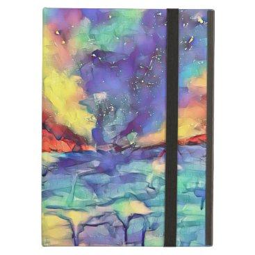 Rainbow Skyline Abstract Case For iPad Air
