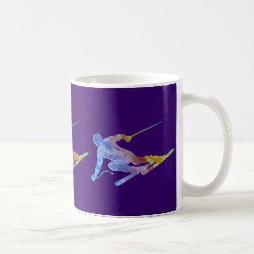 Rainbow Slalom Classic White Coffee Mug