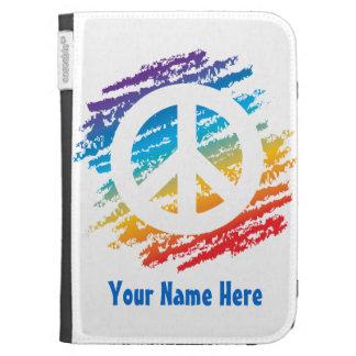 Rainbow Slash Peace Kindle Keyboard Covers