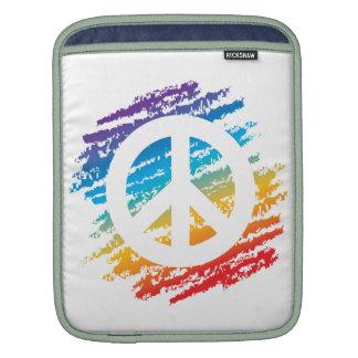 Rainbow Slash Peace Sleeves For iPads