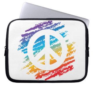 Rainbow Slash Peace Laptop Computer Sleeves