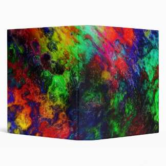 Rainbow Slime 3 Ring Binder