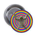 Rainbow Sloth 2 Inch Round Button