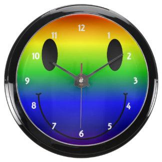 Rainbow Smiley Aquarium Clock