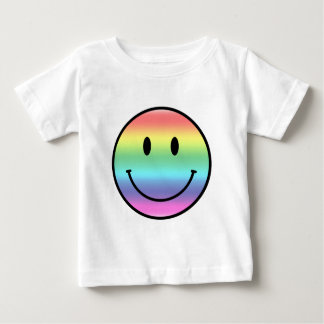 Rainbow Smiley Baby T-Shirt
