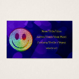 Rainbow Smiley Business Card
