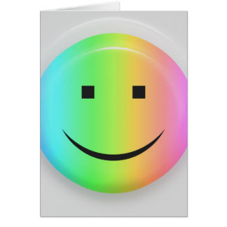 Rainbow smiley greeting card
