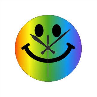 Rainbow Smiley Clock